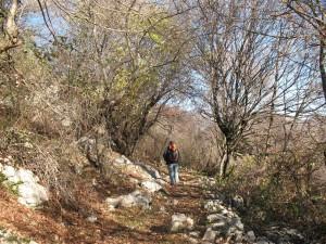 sentiero monti Lucretili