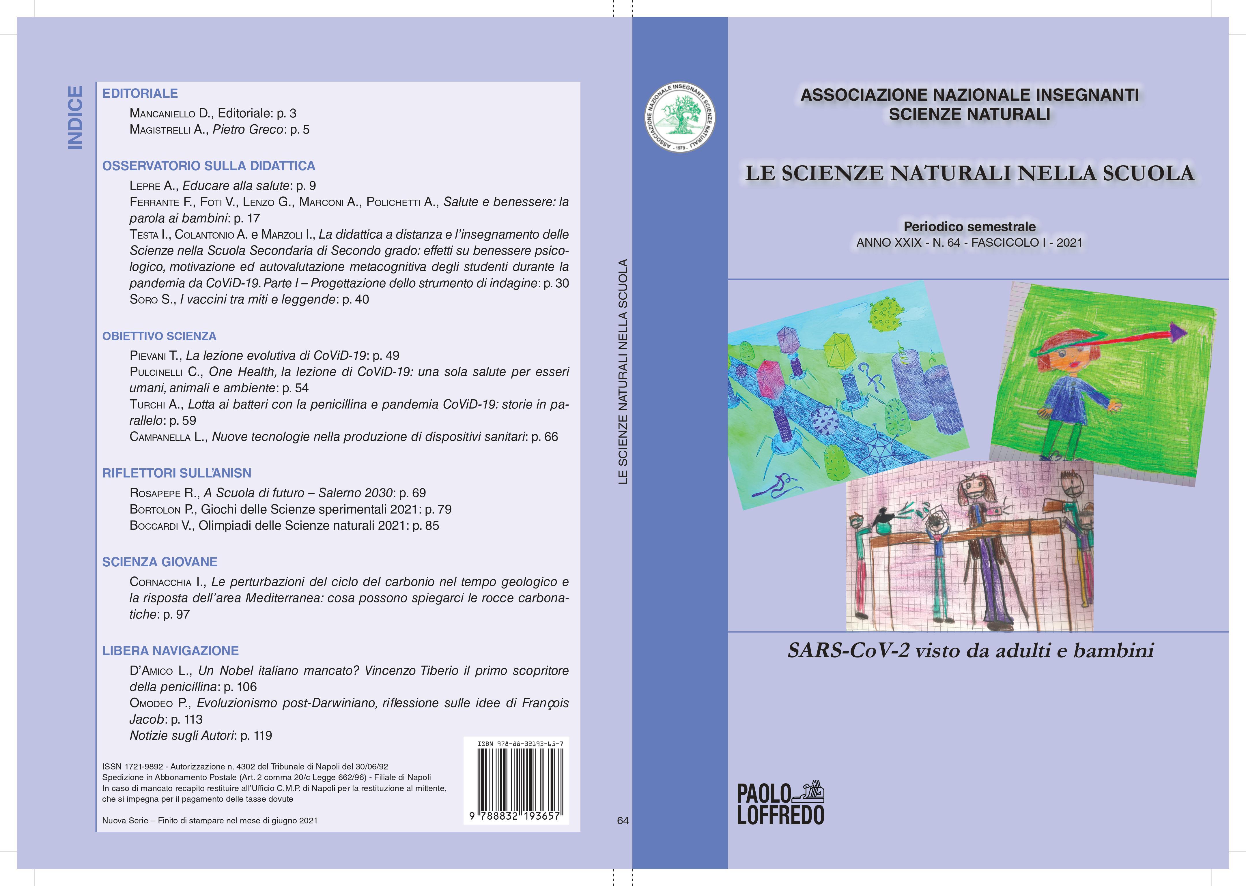 """Numero 64 de """"Le Scienze Naturali nella Scuola"""""""